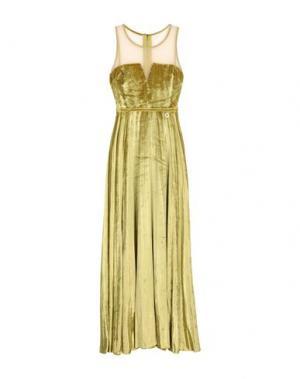 Длинное платье MANGANO. Цвет: кислотно-зеленый