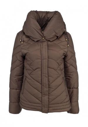 Куртка утепленная F5. Цвет: коричневый