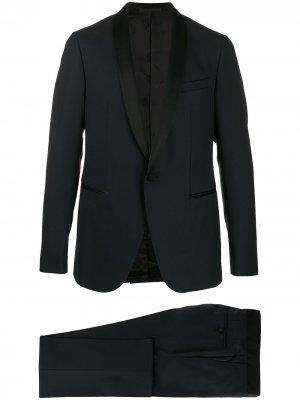 Вечерний костюм с контрастной отделкой LANVIN. Цвет: синий