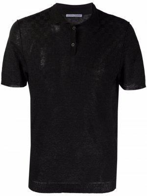 Рубашка поло в клетку Grey Daniele Alessandrini. Цвет: черный