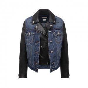 Кожаная куртка Alexander McQueen. Цвет: чёрный