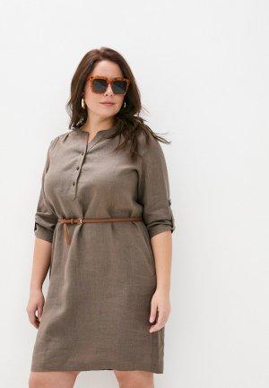 Платье Electrastyle. Цвет: коричневый