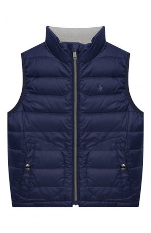 Пуховый жилет Polo Ralph Lauren. Цвет: синий