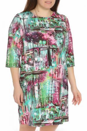 Платье с акссесуаром Exclusive. Цвет: зеленый