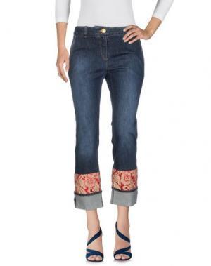 Джинсовые брюки-капри TRUE ROYAL. Цвет: синий