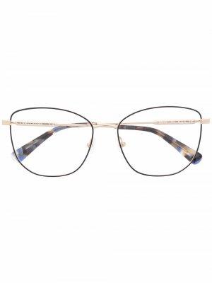 Очки в круглой оправе черепаховой расцветки Longchamp. Цвет: золотистый
