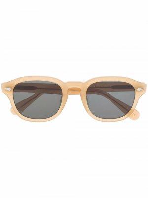Солнцезащитные очки Posh XL в круглой оправе Lesca. Цвет: нейтральные цвета