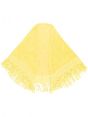 Шаль с бахромой Balmain Pre-Owned. Цвет: желтый