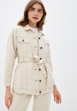 Куртка джинсовая Lee. Цвет: бежевый