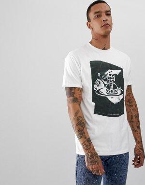 Белая футболка из органического хлопка с логотипом -Белый Vivienne Westwood