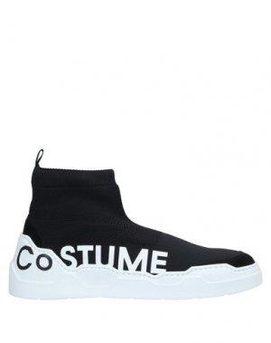 Высокие кеды и кроссовки COSTUME NATIONAL HOMME. Цвет: черный