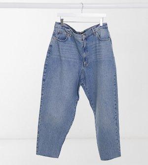 Светло-голубые джинсы бойфренда с завышенной талией ASOS DESIGN Curve-Синий Curve