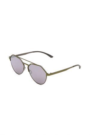 Очки солнцезащитные с линзами adidas. Цвет: 030 078 оливковый, серый