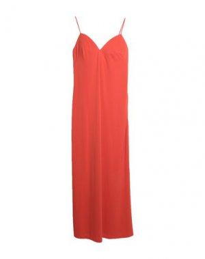 Длинное платье LA PERLA. Цвет: оранжевый