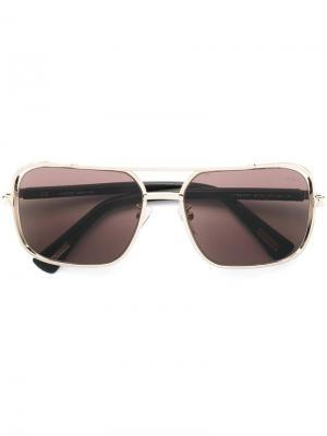 Солнцезащитные очки-авиаторы в квадратной оправе Lanvin. Цвет: золотистый