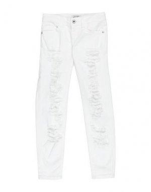 Джинсовые брюки DENNY ROSE YOUNG GIRL. Цвет: белый