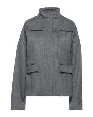 Пальто GIAMBATTISTA VALLI. Цвет: серый