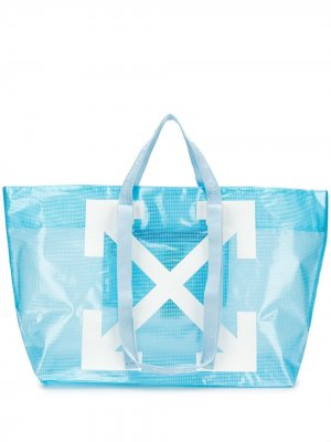 COMMERCIAL TOTE BABY BLUE WHITE Off-White. Цвет: синий