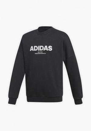 Свитшот adidas YB ALLCAP CREW. Цвет: черный