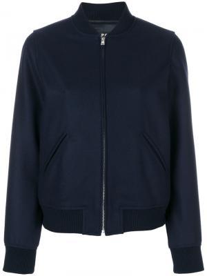 Куртка-бомбер A.P.C.. Цвет: синий