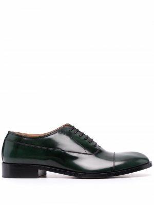 Оксфорды на шнуровке Maison Margiela. Цвет: зеленый