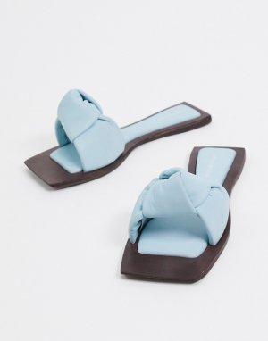 Голубые сандалии на плоской подошве -Синий Jeffrey Campbell