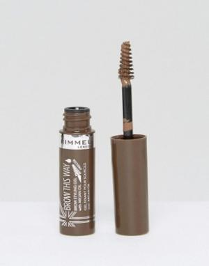 Гель для бровей с аргановым маслом Rimmel Brow This Way-Прозрачный London