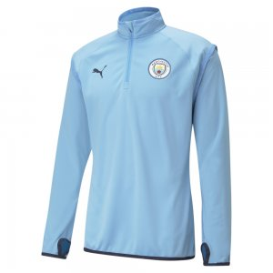 Олимпийка Man City Warm-Up Mens Football Midlayer PUMA. Цвет: синий