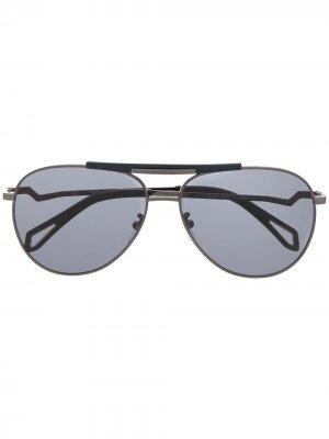 Солнцезащитные очки-авиаторы Pilote Eclair Zadig&Voltaire. Цвет: синий
