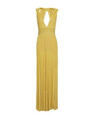 Длинное платье ANTONINO VALENTI. Цвет: желтый