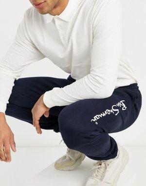 Джоггеры с большим логотипом -Темно-синий Ben Sherman