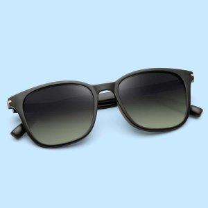 Мужские поляризованные солнцезащитные очки с тонированными линзами SHEIN. Цвет: многоцветный