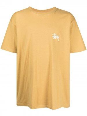 Футболка с логотипом Stussy. Цвет: желтый