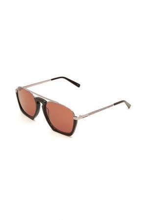 Очки солнцезащитные Karl Lagerfeld. Цвет: 529 черный, серебристый