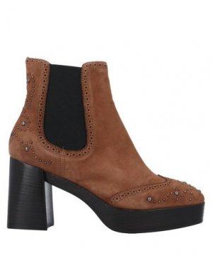 Полусапоги и высокие ботинки GUIDO SGARIGLIA. Цвет: верблюжий