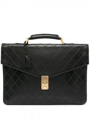 Стеганый портфель 1990-х годов Chanel Pre-Owned. Цвет: черный