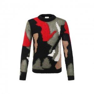 Шерстяной свитер Saint Laurent. Цвет: разноцветный