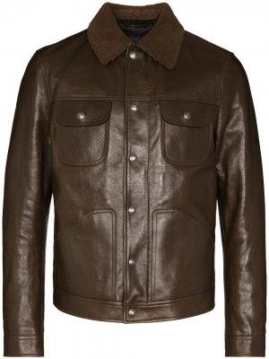 Куртка на молнии TOM FORD. Цвет: коричневый
