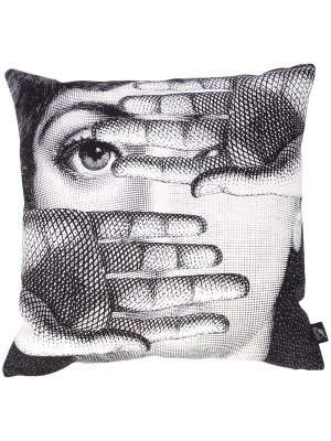 Двусторонняя подушка с принтом Lina Cavalieri Fornasetti. Цвет: белый