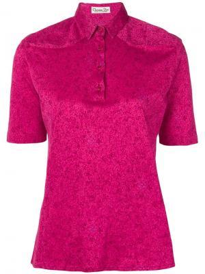 Рубашка-поло 1970-х годов Christian Dior. Цвет: розовый