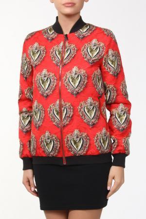 Куртка Dolce&Gabbana. Цвет: красный