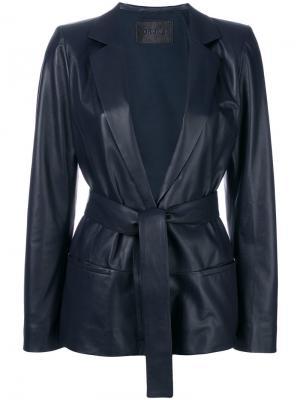 Приталенный пиджак с поясом Drome. Цвет: чёрный