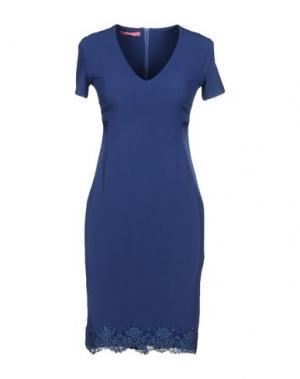 Короткое платье FRANCESCA FERRANTE. Цвет: синий