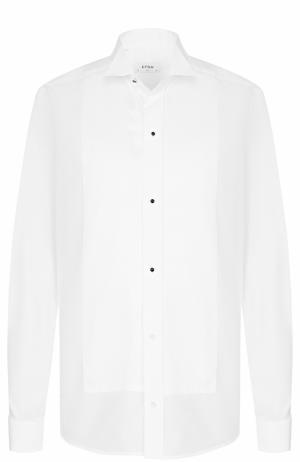 Хлопковая сорочка под смокинг с воротником бабочка Eton. Цвет: белый