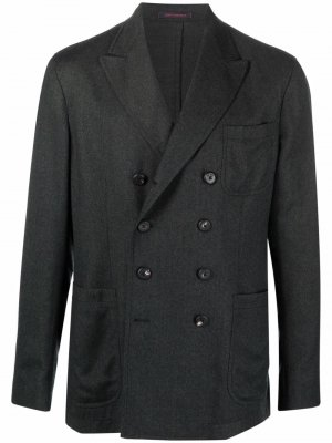 Двубортный пиджак с заостренными лацканами The Gigi. Цвет: зеленый