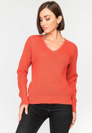 Пуловер Gloss. Цвет: коралловый