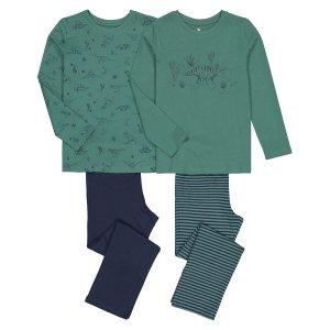 Комплект из 2 пижам LaRedoute. Цвет: зеленый