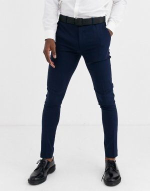 Темно-синие супероблегающие брюки -Темно-синий ASOS DESIGN