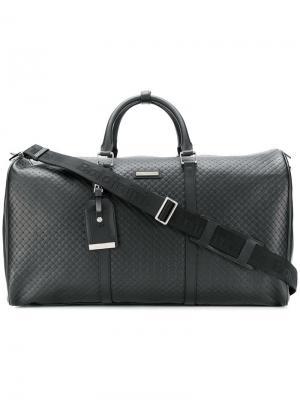 Дорожная сумка с закругленными ручками Baldinini. Цвет: черный