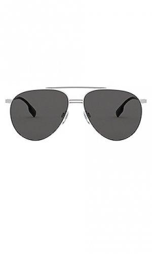 Солнцезащитные очки aviator Burberry. Цвет: белый